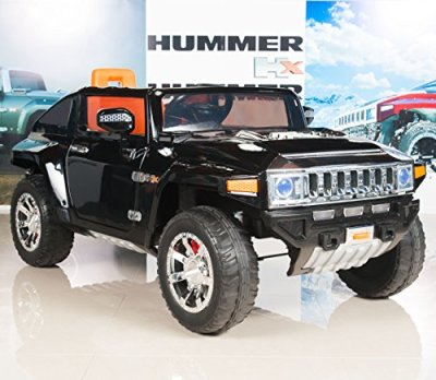 Hummer-HX-Kids-Ride-On-TruckCar-12V-Battery-Powered-Wheels-with-RC-Remote-Control-Black