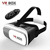 TOMI VR Box II Virtual Reality 3D Glass Headset with Bluetooth Remote Control Movies Glass for 4.7 - 6.0 inch phones