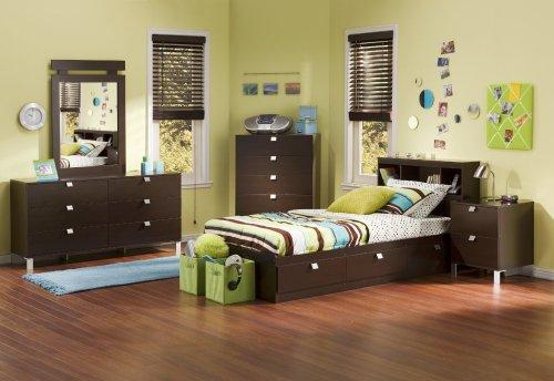 Image of Kids Bedroom Furniture Set 3 in Chocolate - South Shore Furniture - 3259-BSET-3 (3259-BSET-3)