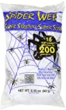 White 16 ft Long Super Stretch Scary Spider Web Halloween Decoration (Pack of 2)