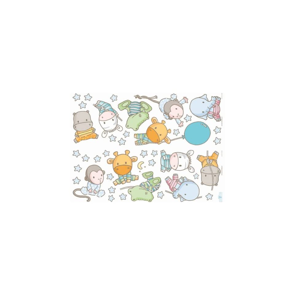 Baby Wandsticker Decofun 40580b Zoo Baby Wandsticker Baby On Popscreen