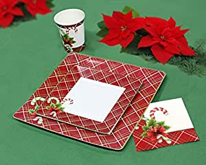 Amazoncom Christmas Disposable Dinnerware And Holiday