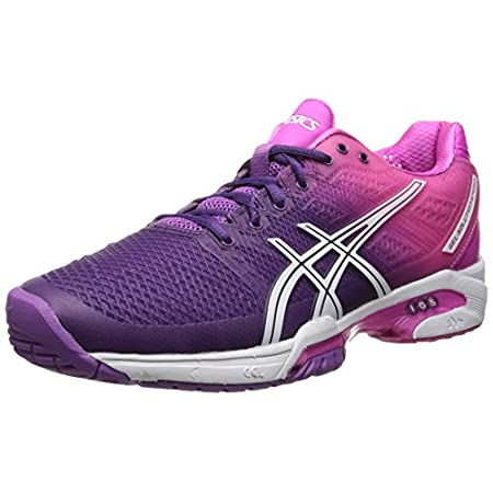 Settle in for a lightweight, supportive ride with the updated ASICS GEL-Solution Speed 2 shoe. Designed with elite tennis players in mind, this women's athletic shoe features a breathable mesh upper with Flexion FitTM forefoot wraps that provide supp...