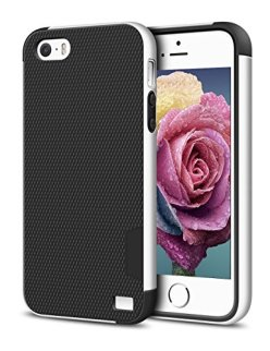iPhone-55S-Case-EXSEK-Hybrid-Impact-Ultra-Slim-3-Color-Dual-Layer-Shockproof-Case-Anti-Slip-Extra-Front-Raised-Lip-Scratch-Resistant-Soft-Gel-Hard-PC-Bumper-Protective-Rugged-Case-for-iPhone-55S