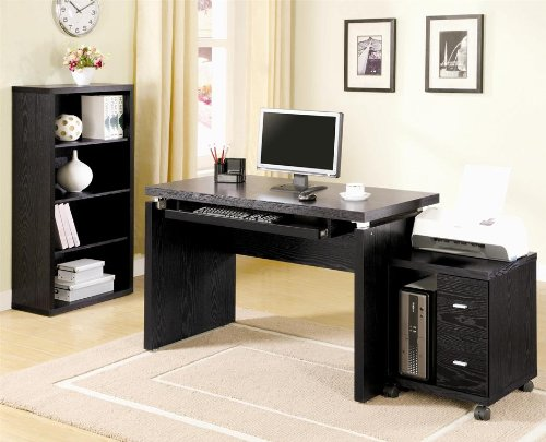 Picture of Comfortable Coaster Company Peel Computer Desk With Keyboard Tray (B004T3CMRI) (Computer Desks)