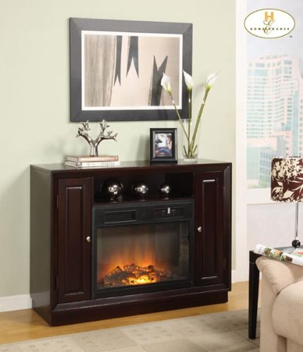 Image of Aruba TV Stand with Electric Fireplace By Homelegance Furniture (8105-F102)