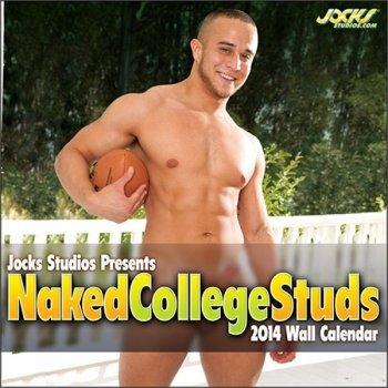 Jocks Studios Naked College Studs 2014 Wall Calendar