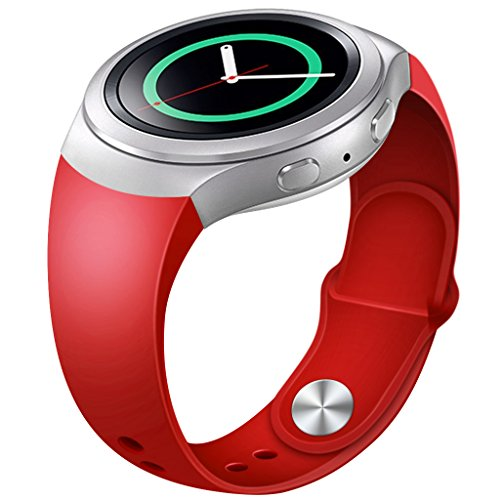 Gear-S2-Bands-Henoda-Soft-Silicone-Replacement-Watch-Band-for-Samsung-Gear-S2-Smart-Watch-Red-Not-Fit-Gear-S2-Classic-SM-7320-version