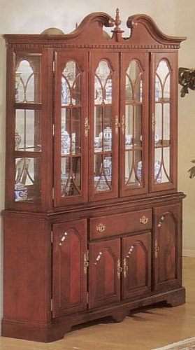Image of Contemporary Chippendale Hutch/buffet (VF_AZ02-14209)