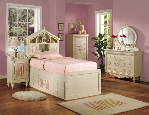Image of KIDS FULL SIZE BEDROOM COLLECTION DOLL HOUSE 6 PIECE SET (B008W1CRYQ)