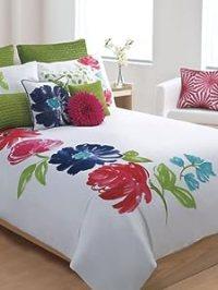 Amazon.com - Cynthia Rowley New York Luxury Floral Duvet ...