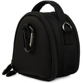 Black-Limited-Edition-Camera-Bag-Carrying-Case-with-Extra-Accessory-Compartment-for-Panasonic-Lumix-Point-and-Shoot-Digital-Camera