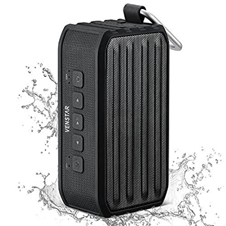 The Venstar Wireless Waterproof Speaker is a rugged and portable mini Bluetooth Speaker that provides high definition sound for any occasion. It Can be used wirelessly (via Bluetooth), wired (via the Micro-USB or 3.5mm Aux ports), you can insert a Mi...