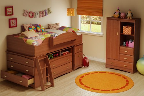 Image of Twin Size Kids Bedroom Furniture Set 74 in Morgan Cherry - Imagine - South Shore Furniture - 3576-BSET-74 (3576-BSET-74)