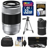 Fujifilm-50-230mm-f45-67-XC-OIS-Zoom-Lens-Silver-with-32GB-Card-3-UVCPLND8-Filters-Case-Tripod-Kit-for-X-A2-X-E2-X-E2s-X-M1-X-T1-X-T10-X-Pro2-Cameras