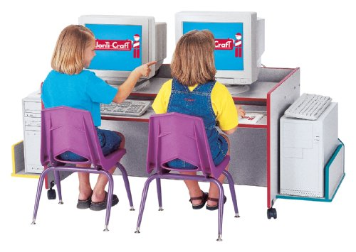 Picture of Comfortable Kydz Computer Desk - Double - Black - School & Play Furniture (B002LTJ3H4) (Computer Desks)