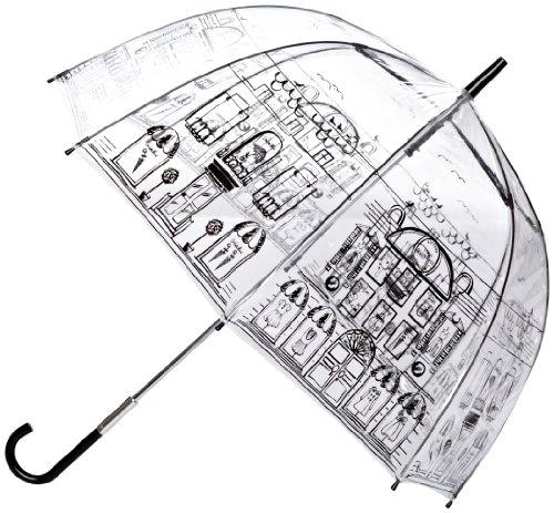 [ルルギネス 傘]ルルギネス(LULU GUINNESS)長傘/ドーム型アンブレラ《ストリートシーン》【平行輸入品】