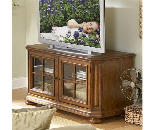 Image of Riverside Furniture Seville Square 48 Inch TV Stand in Warm Oak (B0045C51TE)