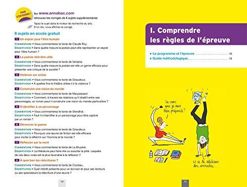 Annales Annabac 2017 Français 1re L, ES, S: sujets et corrigés du bac Première séries générales