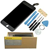 iPartshop Repair and Replacement LCD Display Touch Screen Digitizer Assembly for iPhone 6 Plus (AT&T/ Verizon/ Sprint) 5.5 inch 2015 + Free Advanced Customization Tools (Black)