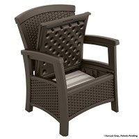 Suncast ELEMENTS Club Chair with Storage, Java | The Lawn ...