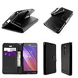 Asus ZenFone 2 Case, CoverON [CarryAll Series] Flip Wallet Phone Cover + Strap For Asus ZenFone 2 (5.5