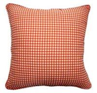 Amazon.com - 26x26 Orange Gingham Cotton Decorative Throw ...