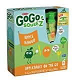 GoGo squeeZ Applesauce, Apple mango 3.2 ounce pack of 48 (or 12/4pk)