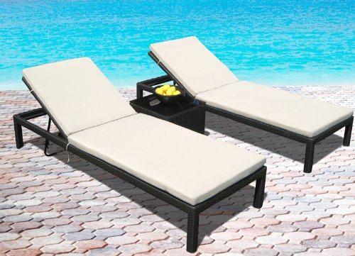 Strap Patio Pool Furniture Outdoor Wicker Patio Pool Lounge All Weather 3 Pc Resin Wicker Chair Recliner Set | »»» Cheap ...