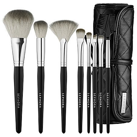 What it is: A high-quality set of eight brushes for the eyes, cheeks, and complexion. What it does: Apply all your favorite cosmetics with style and flair with this convenient brush roll set that can be packed away for traveling with ease. This set c...
