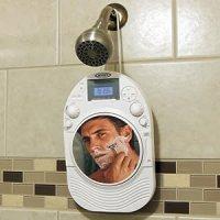 Amazon.com: Stereo Shower Radio & CD Player W/ Mirror Fog ...