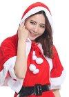 これ1着で 簡単 クリスマス気分! フード付きサンタポンチョ ・・・