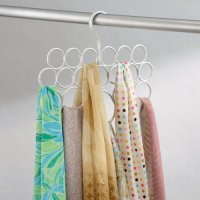 InterDesign Axis Scarf Holder, Pearl White, 2-Pack Food ...