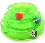 【Lucky Style】 猫 遊び おもちゃ ボール 鈴 入り 運動不足 ストレス 解消 ペット用品 グリーン