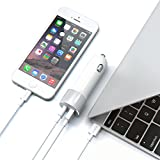 Satechi 48W Type Cと標準USB Aポート付 車載アダプター 対応: Apple Macbook 12 Inch, LG G5, Nexus 5X/6P, HTC 10など (シルバー)