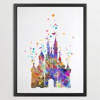 Dignovel Studios 8X10 Cinderella Disney Princess Castle ...