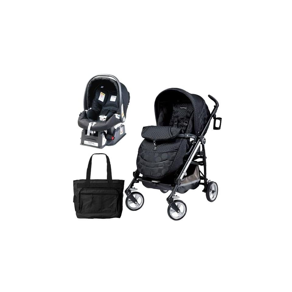 Peg Perego Book Classico Pois Grey Peg Perego Switch Four Travel System With A Diaper Bag Pois