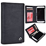 KroO Universal All in One Men's Genuine Leather ::Smartphone:: Wallet Fits Oppo Mirror 3|Black