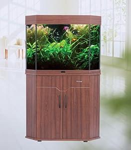 NEW 100 LITRE 22 GALLON CORNER AQUARIUM FISH TANK BOWL, Free Cabinet