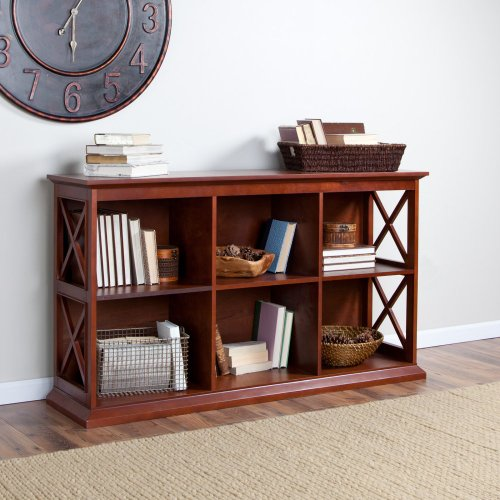 Image of The Hampton Console Table Stackable Bookcase - Cherry (KY275-CH)