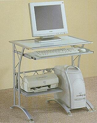 Picture of Comfortable Contemporary Computer Desk (B0001JTU2O) (Computer Desks)