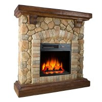 Twin-Star Electric Fireplace 18WM40070 Free Standing 1400 ...