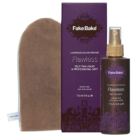 Fake Bake Flawless Self-Tan Liquid combines ease of application with intense professional colour development. Flawless is applied with a professional mitt (included) in effortless gliding strokes for a perfectly even tan. The dual function cosmetic b...