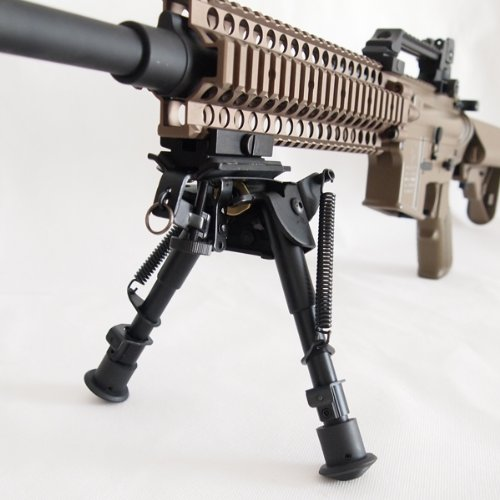 SHENKEL スイング機構搭載 ハリス タイプ バイポッド(6寸)20mmレイル対応アダプター付き 首振り VSR L96 スナイパー
