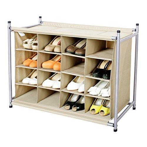 Floor Shoe Rack Closet Organizer Storage Cube 16 Cubby