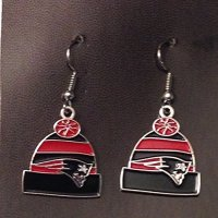 New England Patriots Earrings, Patriots Earrings, Patriot ...