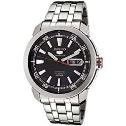 Seiko Watches For Men SNZH Seiko Automatic Black Dial Stainless