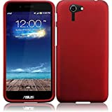Asus Padfone X ( AT&T ) Phone Case Accessory Hot Red Hard Snap On Cover with Free Gift Aplus Pouch