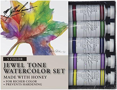 M Graham Tube Watercolor Paint Jewel Tone 5 Color Set 1 2 Ounce