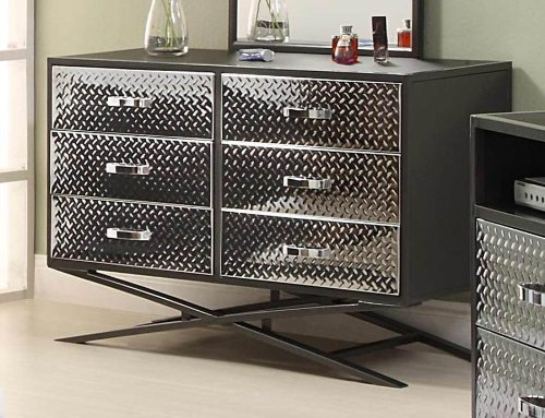 Image of Spaced Out Gun Metal Grey Kids Drawer / Dresser By Homelegance Furniture (813-5)